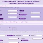 navrh na vykonanie - ezaloby - printscreen